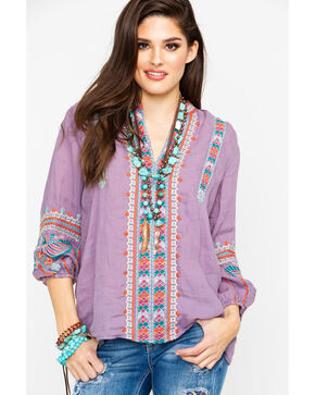 Johnny Was Women's Claudine Paris Blouse, Light Purple, hi-res