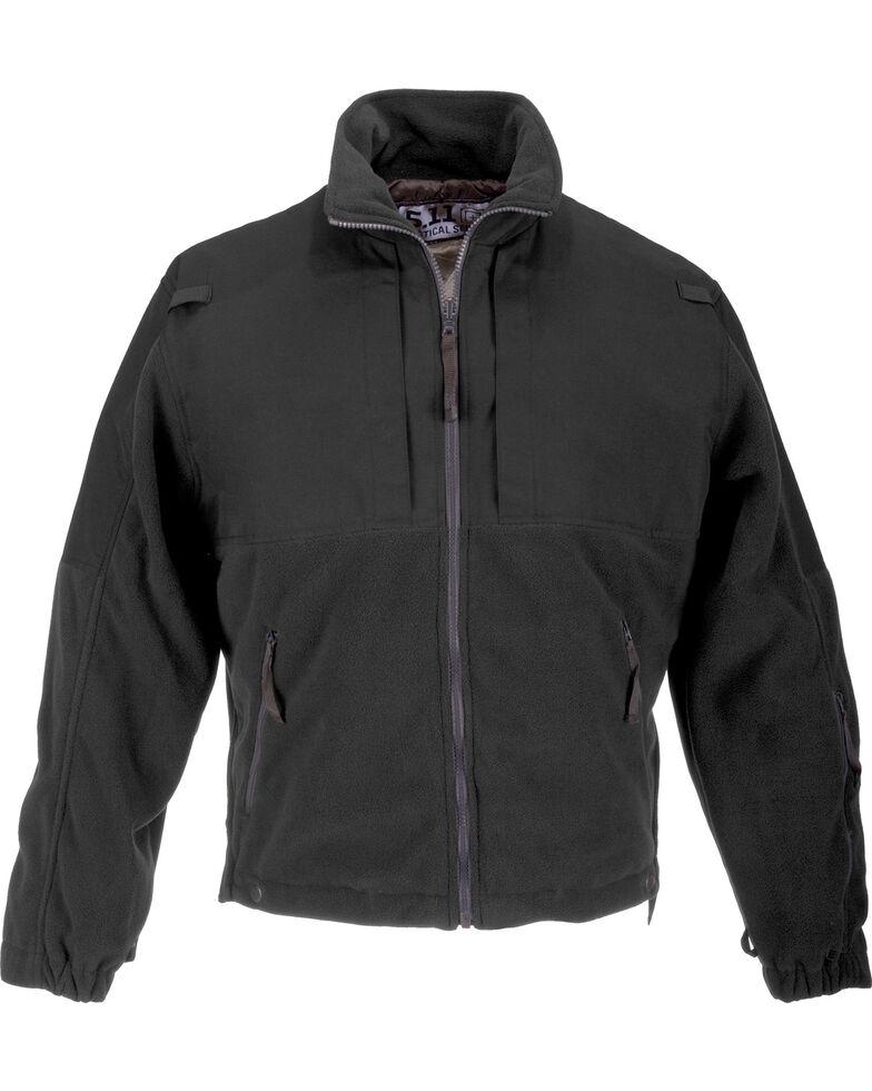 5.11 Tactical Men's Fleece Jacket, Black, hi-res