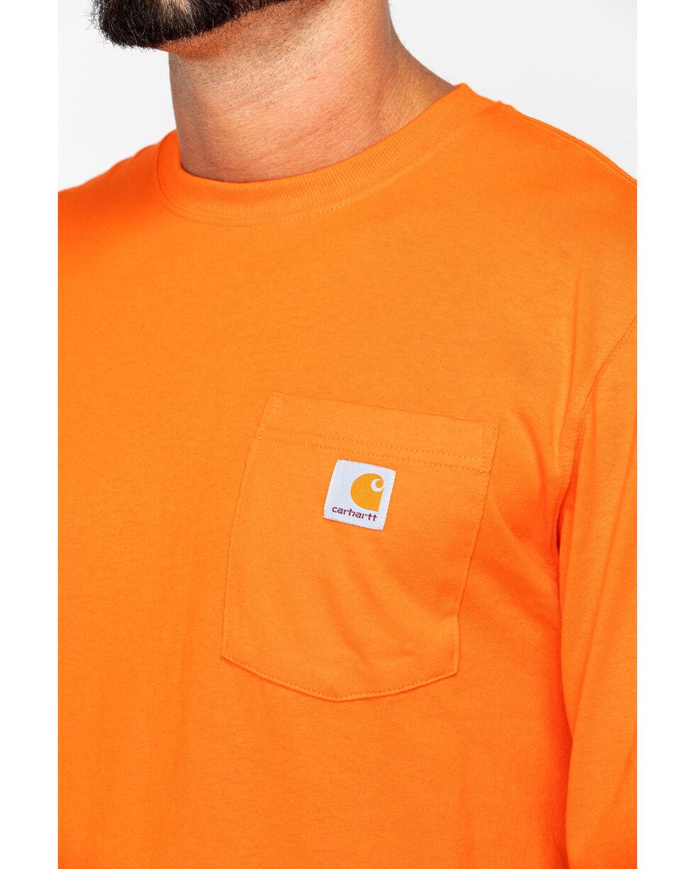 Carhartt Men's Long Sleeve Work T-Shirt, Orange, hi-res