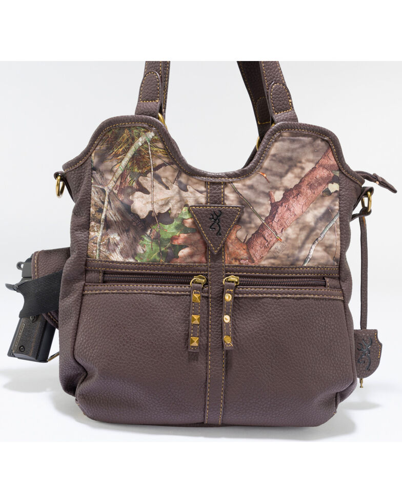 Browning Women S Carson Concealed Carry Handbag Camouflage Hi Res