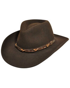 Wind River by Bailey Palisade Brown Western Hat, Brown, hi-res