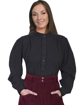 Rangewear by Scully Frontier Long Sleeve Top, Black, hi-res