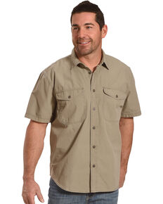 Filson Men's Field Green Short Sleeve Field Shirt , Olive, hi-res