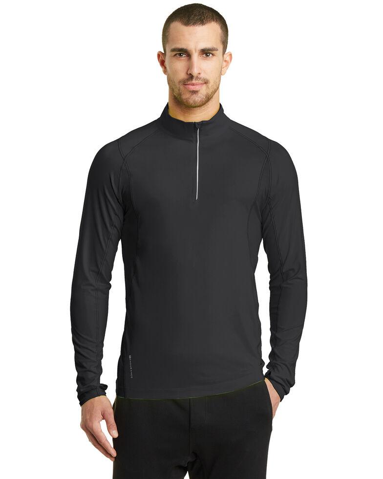Ogio Nexus Men's Black Endurance Reflective 1/4 Zip Pullover Work Sweatshirt - Big , Black, hi-res