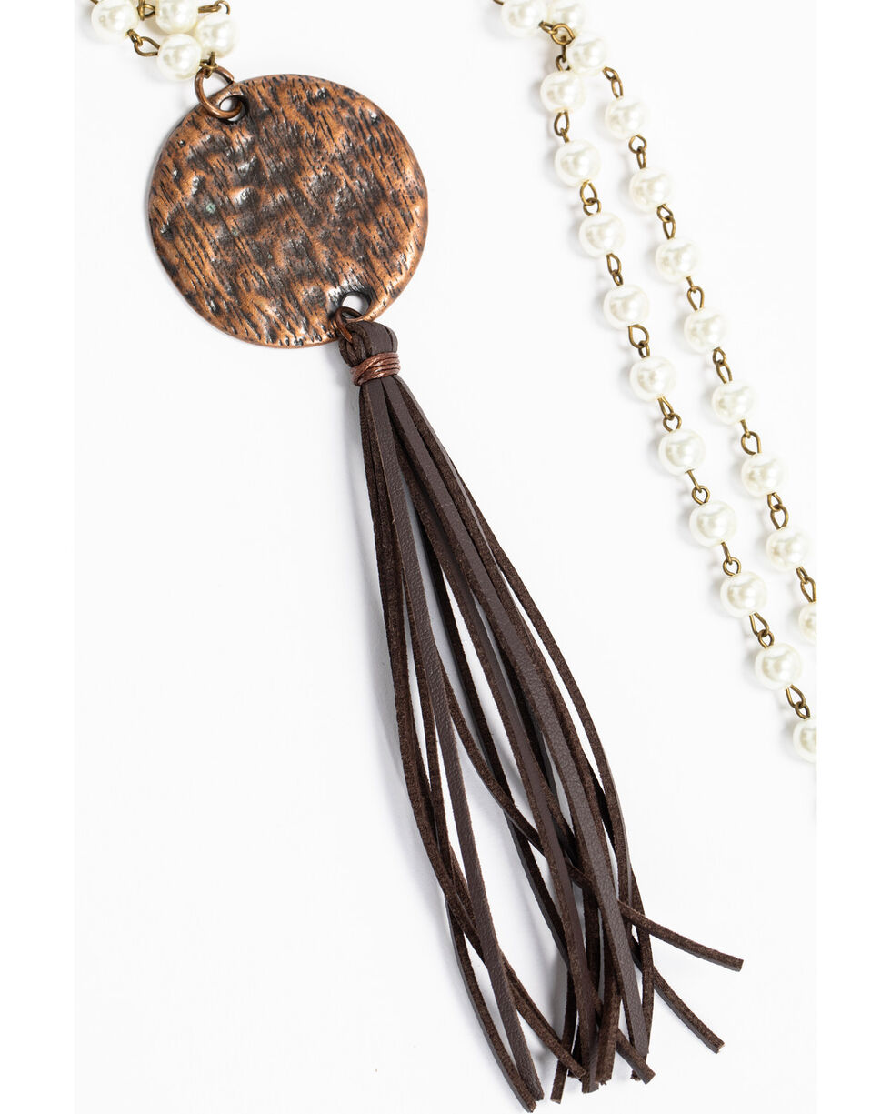 Jewelry Junkie Stone Chip Indian Headdress Necklace, Multi, hi-res
