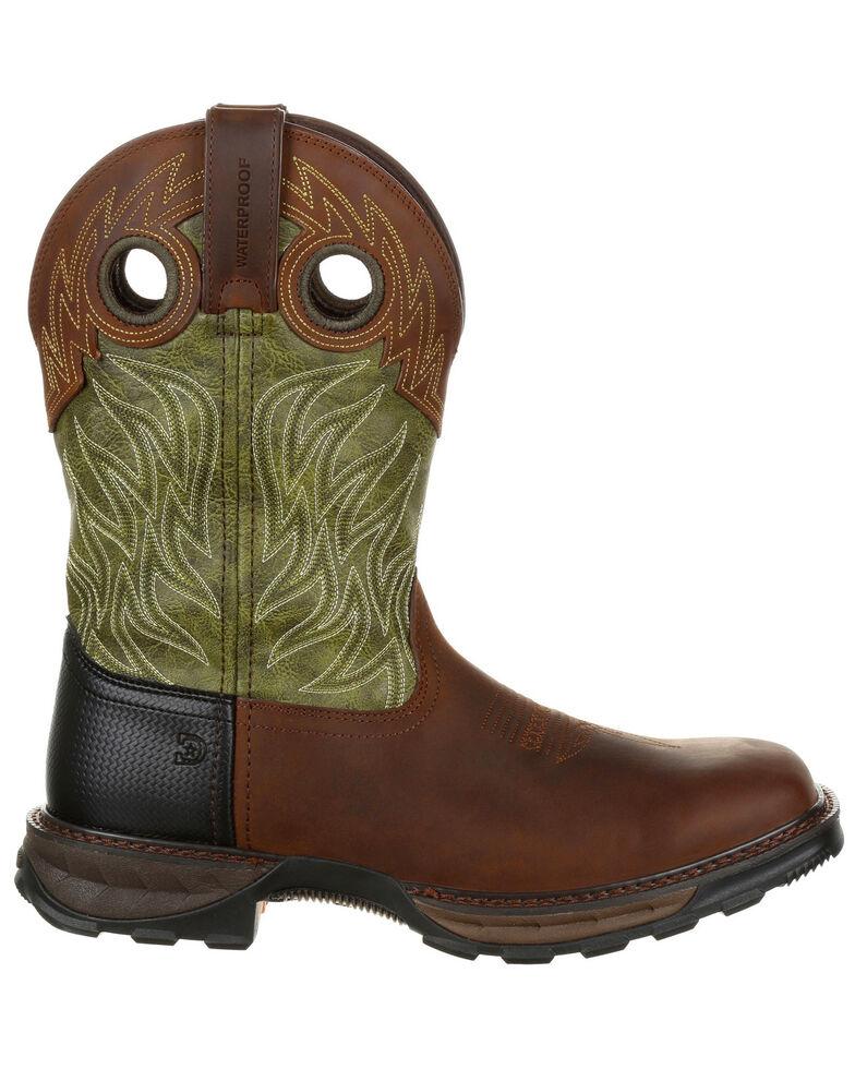 Durango Men's Maverick XP Waterproof Western Work Boots - Square Toe, Brown, hi-res