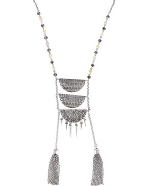Shyanne® Women's Aztec Ladder Link Necklace, Silver, hi-res