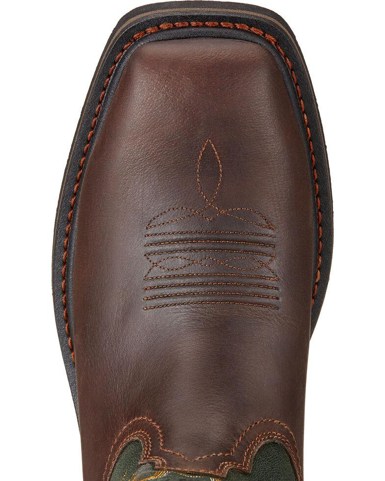 Ariat Men's Sierra Steel Toe Work Boots, Dark Brown, hi-res
