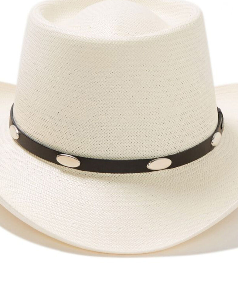 Stetson Men's Royal Flush 10X Shantung Straw Cowboy Hat, Natural, hi-res