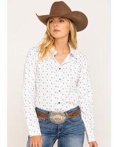 Ariat Women's Glory Kirby Stretch Long Sleeve Shirt, Ivory, hi-res