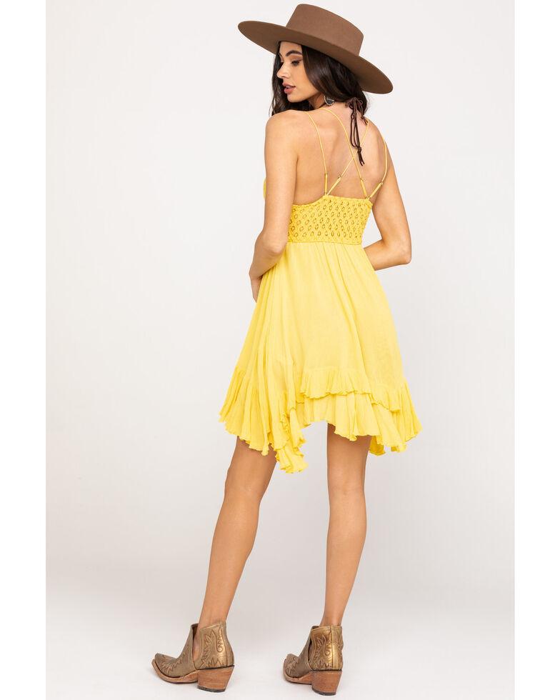 Free People Women's Adella Slip Dress, Yellow, hi-res