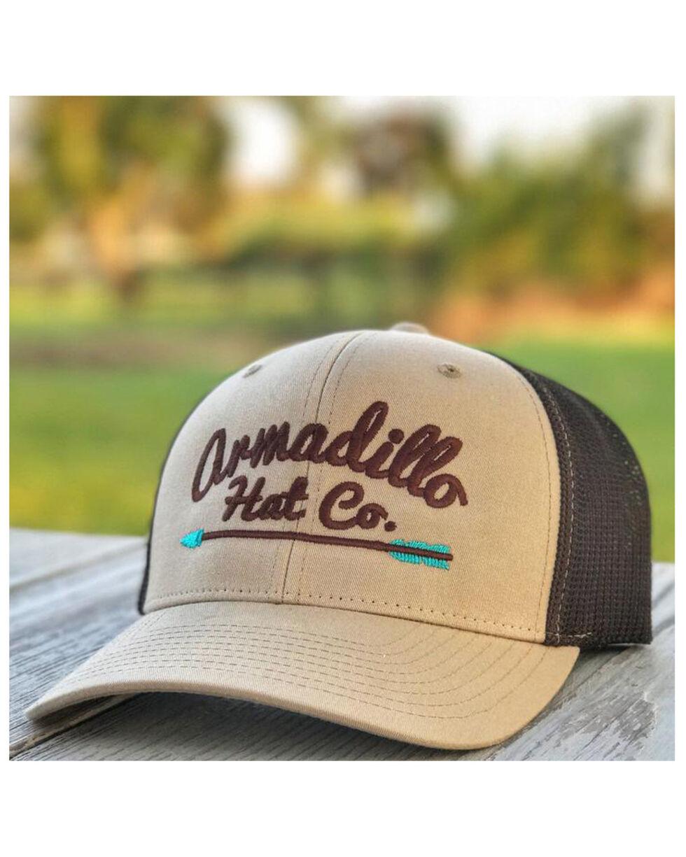 Armadillo Hat Co. Men's AHC Arrow Ball Cap, Tan, hi-res