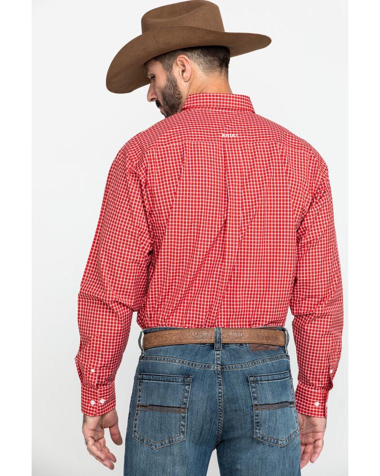 Ariat Men's Newport Small Plaid Long Sleeve Western Shirt - Big , Red, hi-res