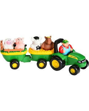 John Deere Kid's Animal Sounds Hay Ride Toy, Green, hi-res