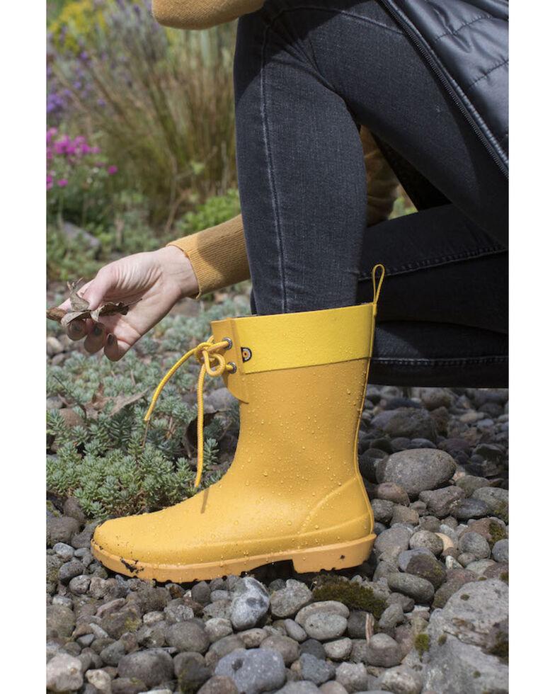 Bogs Women's Mustard Flora 2 Eye Rubber Boots - Round Toe, Mustard, hi-res