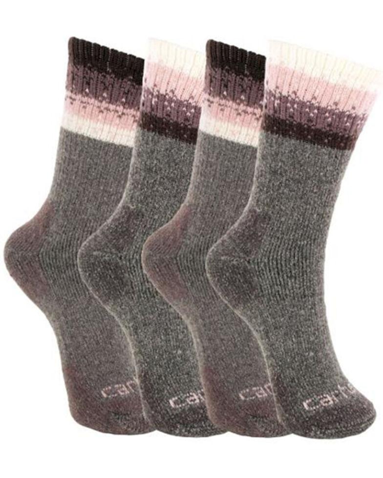 Carhartt Women's Purple Thermal Crew Socks - 4 Pack, Purple, hi-res