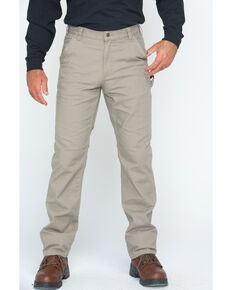 Carhartt Men's Rugged Flex Work Pants, Tan, hi-res