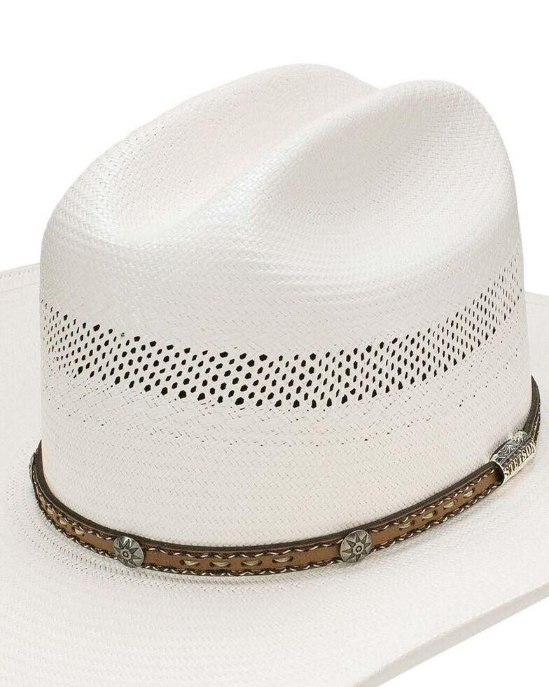 Stetson Natural 10X Woodburn Western Shantung Straw Hat , Natural, hi-res
