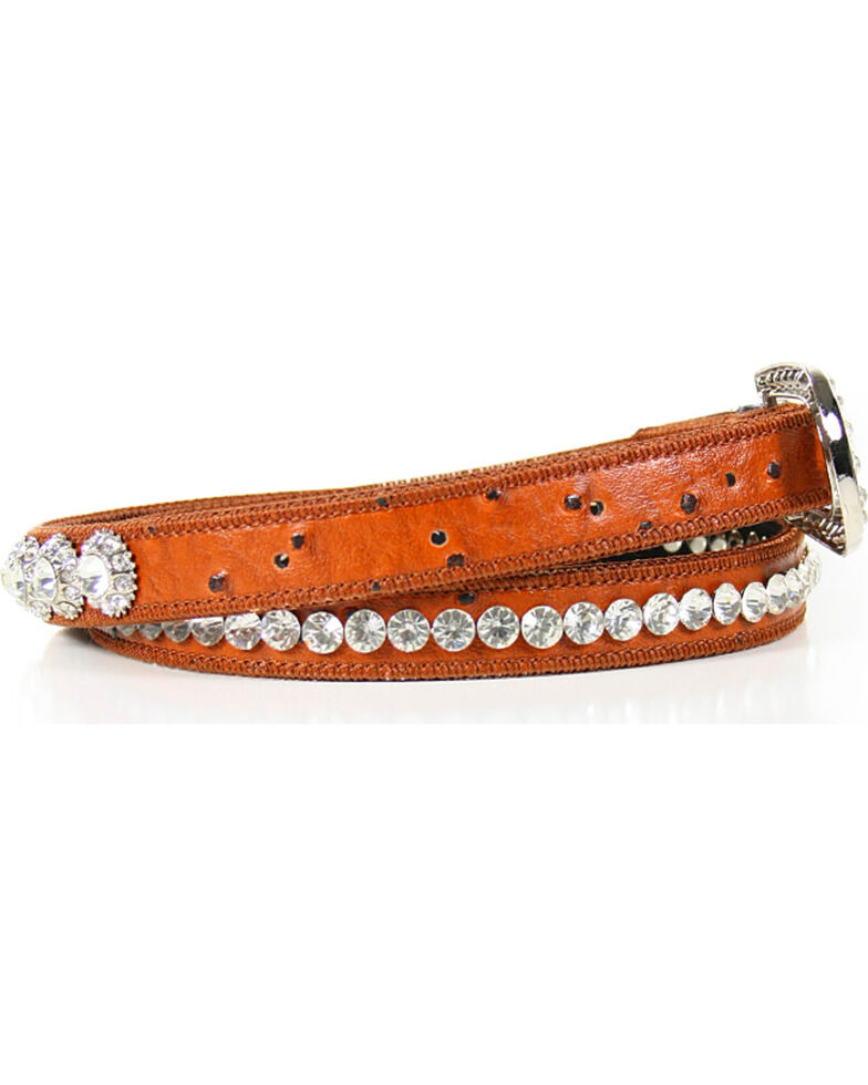 Shyanne® Women's Rhinestone Belt, Brown, hi-res