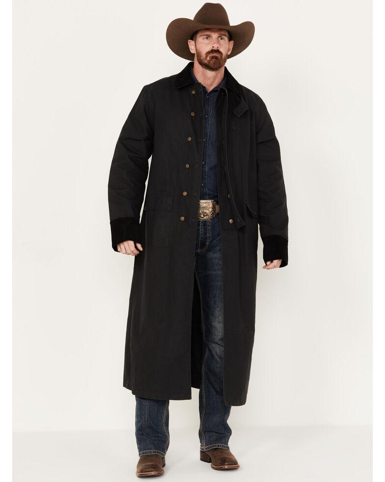 Scully Men's Authentic Canvas Duster, Black, hi-res