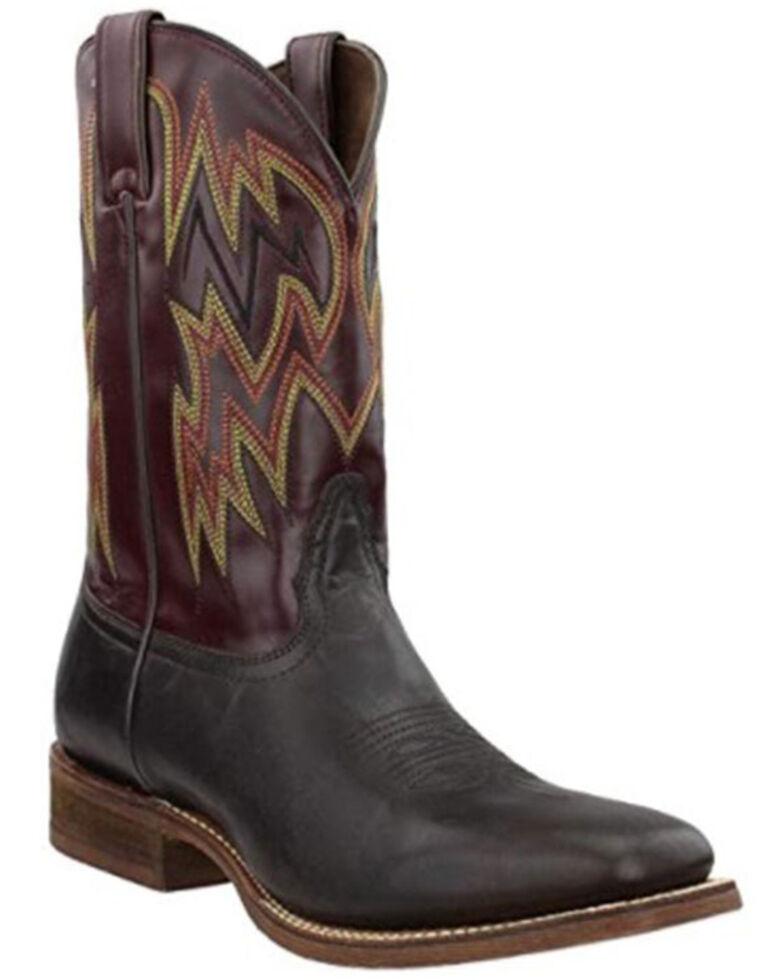 Nocona Men's Dayne Western Boots - Wide Square Toe, Brown, hi-res