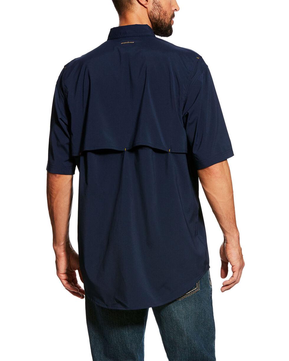 Ariat Men's Navy Rebar Made Tough Vent Short Sleeve Work Shirt - Tall , Navy, hi-res