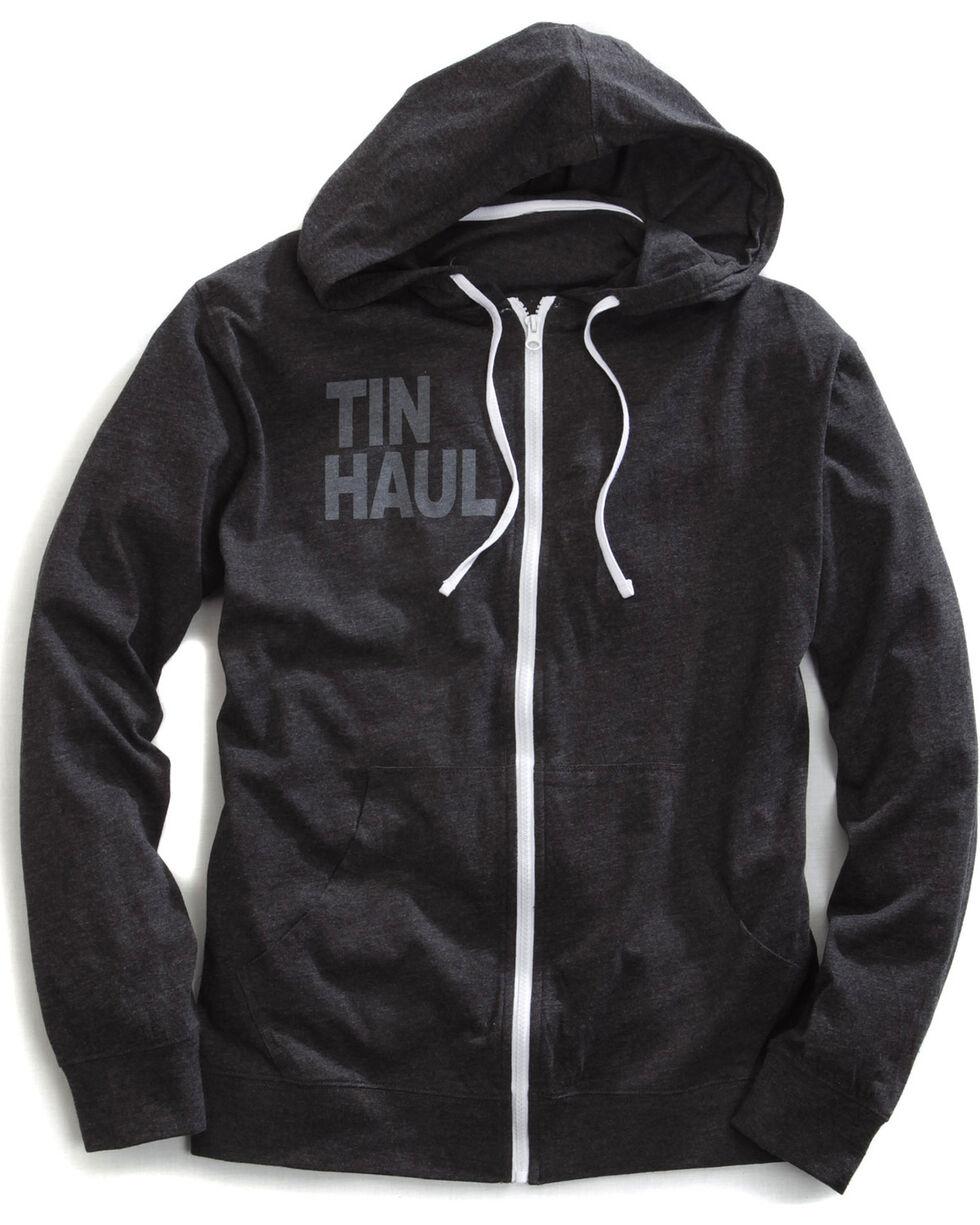 Tin Haul Men's Screen Print Stripe Zip-Up Hoodie, Black, hi-res
