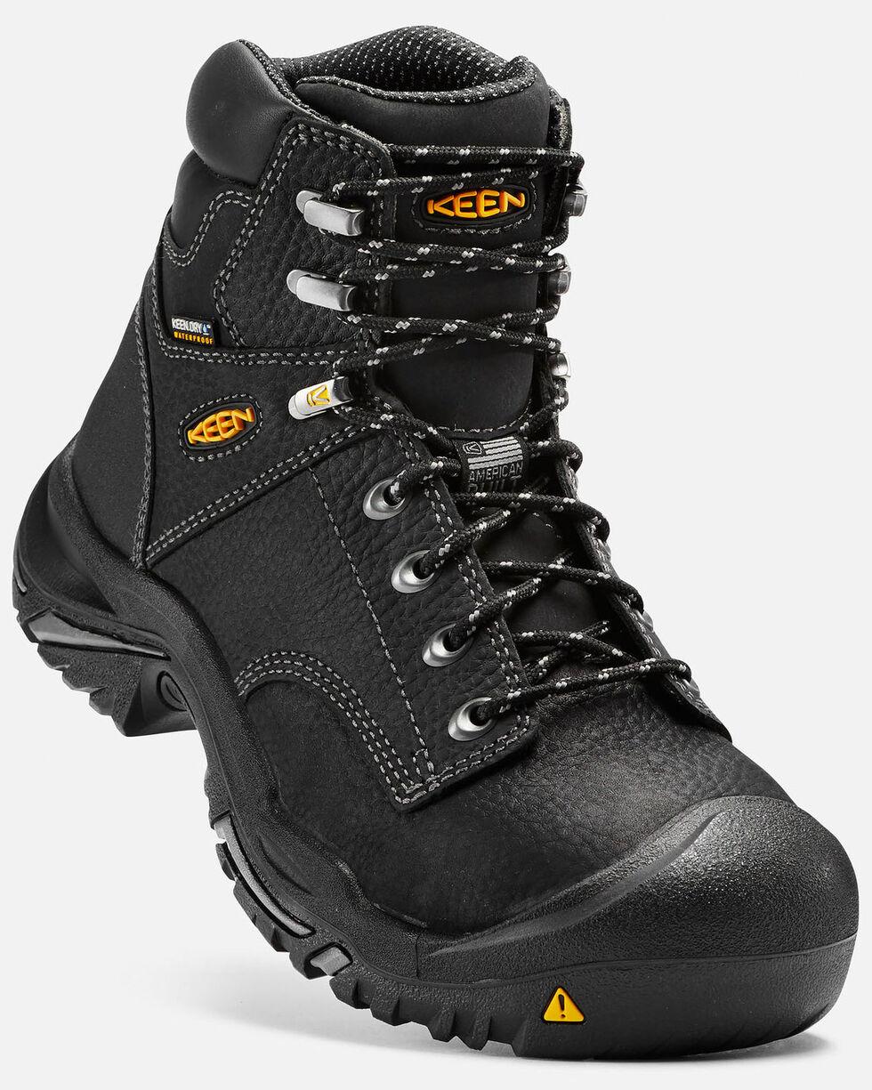 """Keen Men's 6"""" Mt. Vernon Waterproof Work Boots - Steel Toe, Black, hi-res"""