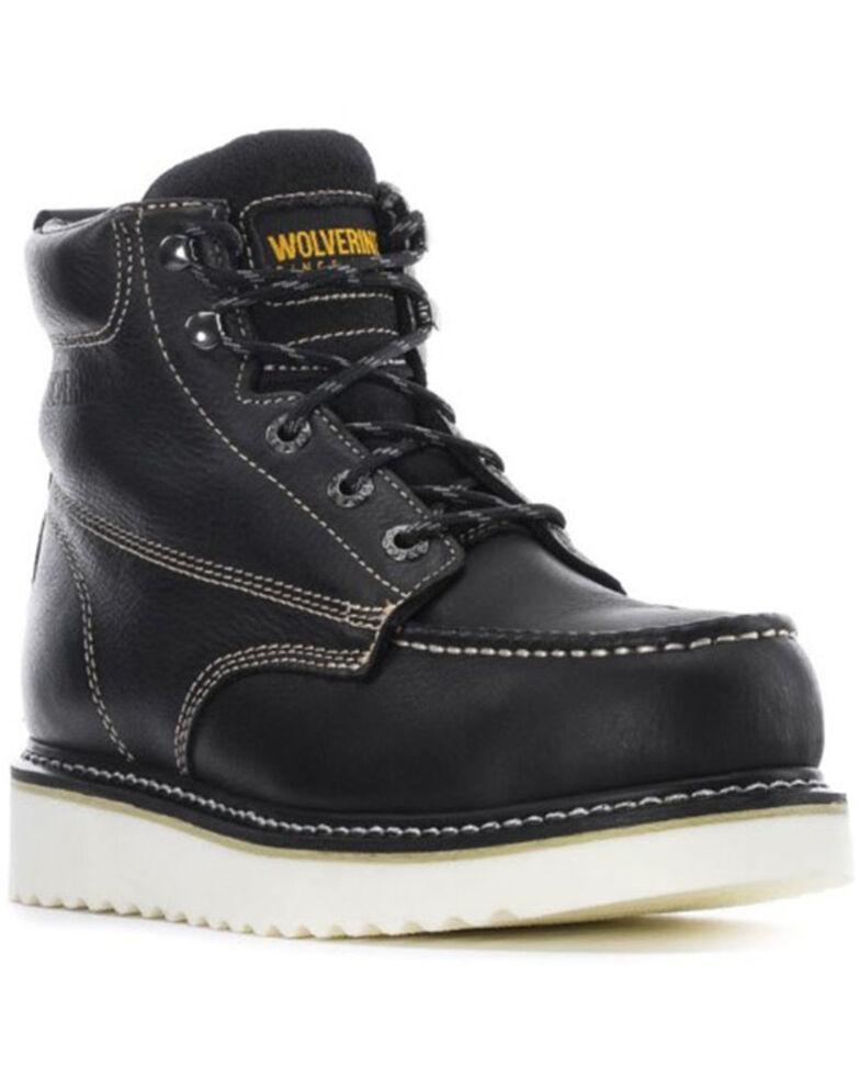 Wolverine Men's Loader Waterproof Work Boots - Steel Toe, Black, hi-res