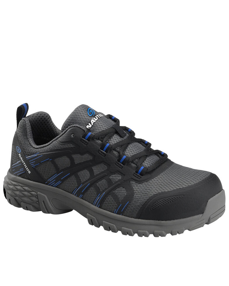 Nautilus Men's Stratus Slip-Resisting Work Shoes - Composite Toe, Grey, hi-res