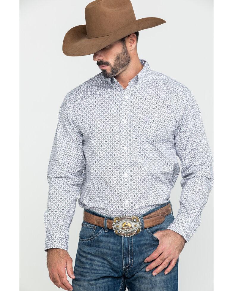 Ariat Men's Ferndale Stretch Geo Print Long Sleeve Western Shirt , Multi, hi-res