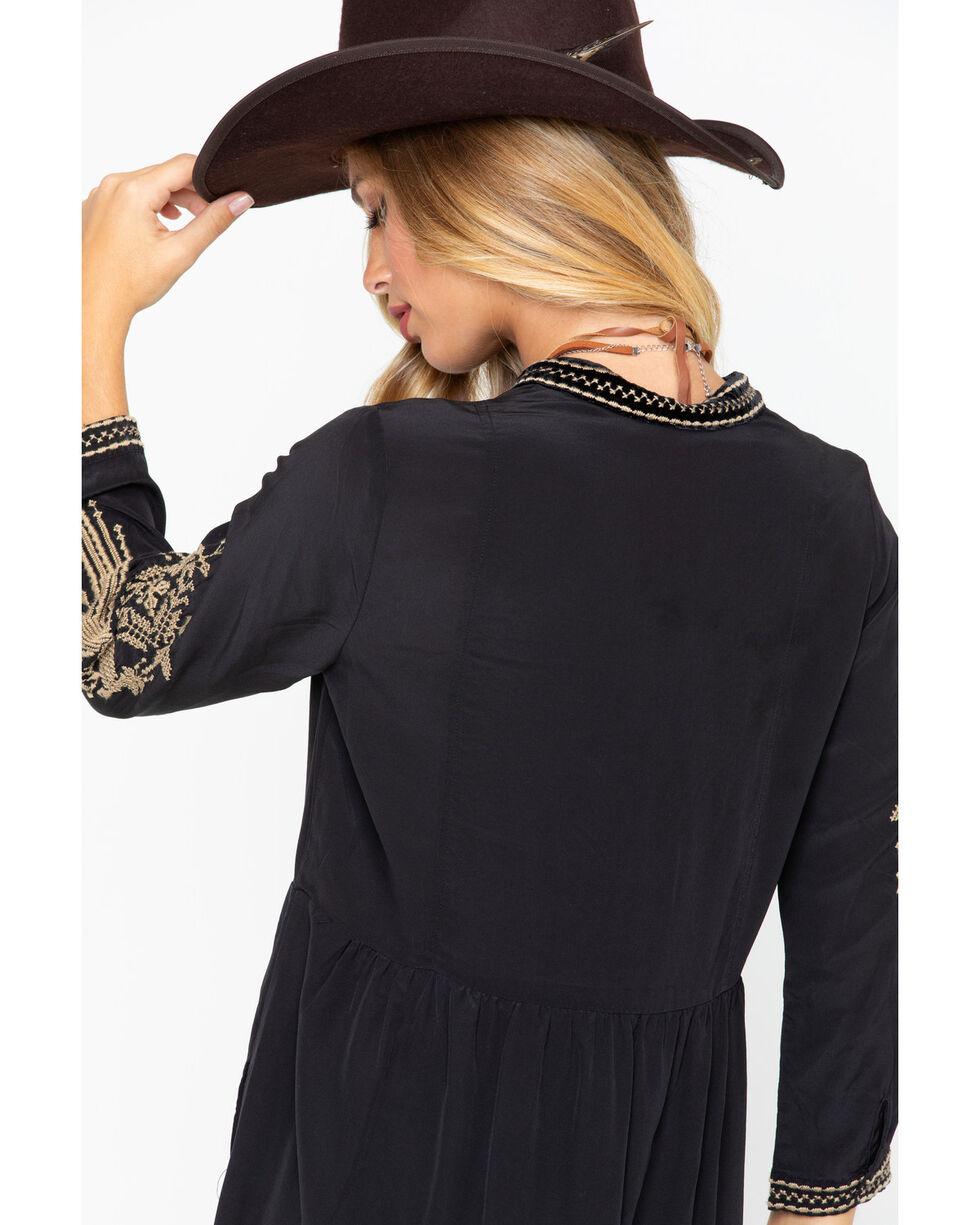 Johnny Was Women's Himmel Boho Henley Dress , Black, hi-res