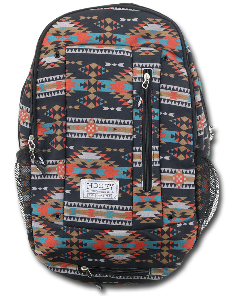 HOOey Men's Rockstar Black Aztec Backpack , Black, hi-res