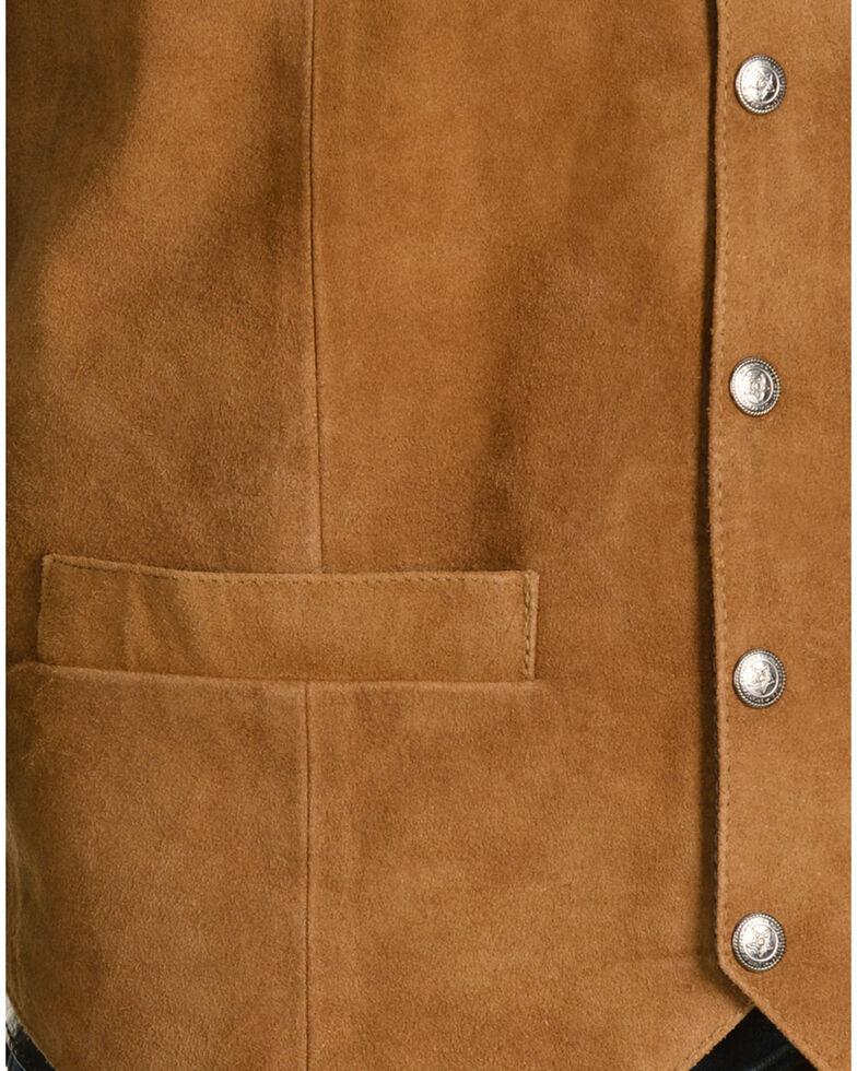 Scully Men's Lambskin  Calf Suede Snap Front Vest, Rust, hi-res