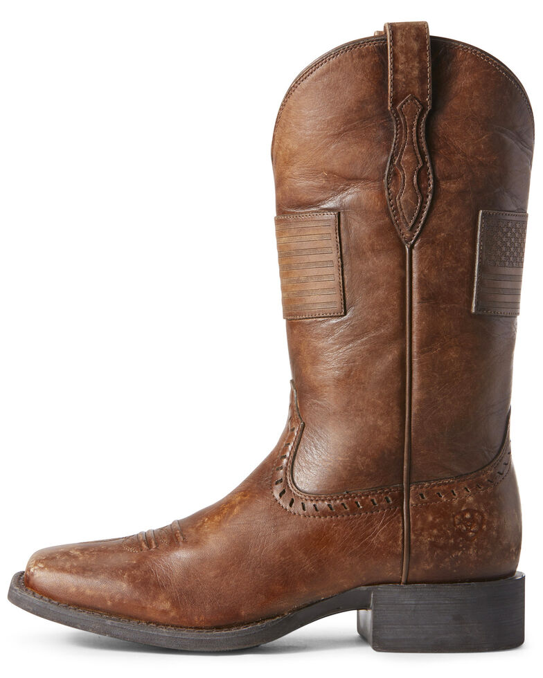 Ariat Women's Round Up Patriot Western Boots - Wide Square Toe, , hi-res