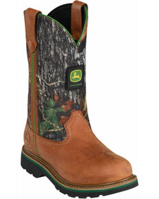 "John Deere® Women's 10"" Mossy Oak Wellington Boots, Tan, hi-res"