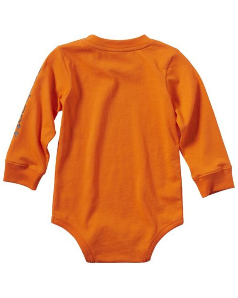 Carhartt Infant Boys' Be Wild Graphic Long Sleeve Body Shirt , Orange, hi-res