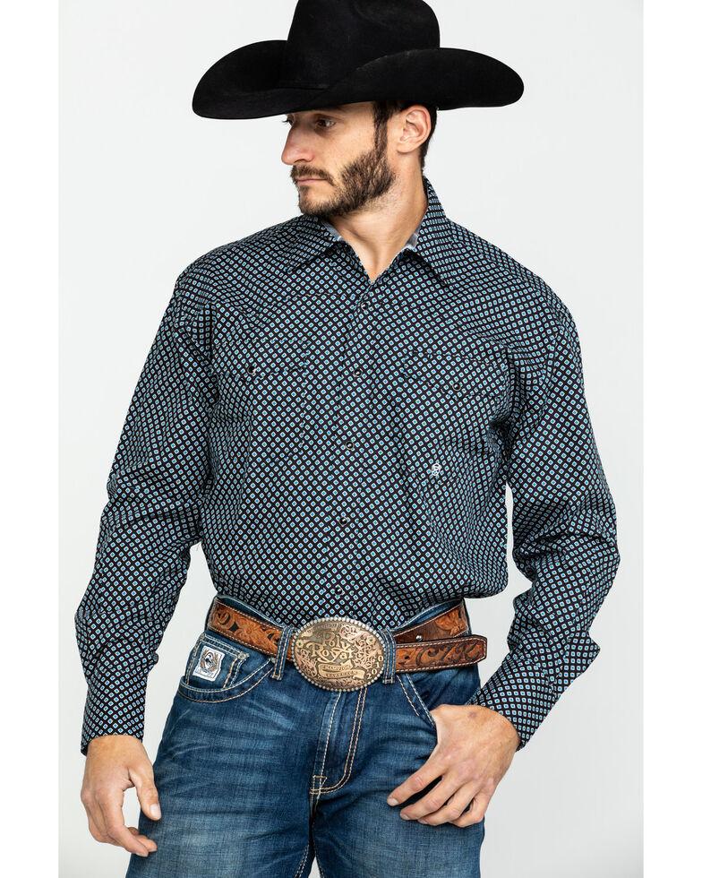 Roper Men's Black Amarillo North Foulard Geo Print Long Sleeve Western Shirt , , hi-res