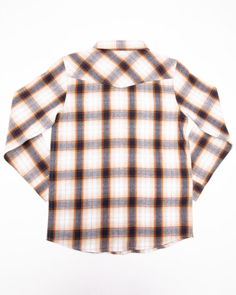 Cody James Boys' Avalon Plaid Long Sleeve Flannel Shirt , Tan, hi-res