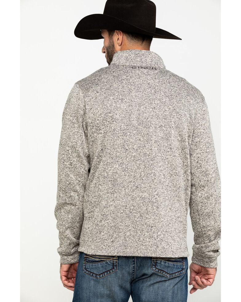 Cinch Men's Khaki 1/4 Zip Up Pullover Sweater Jacket , Beige/khaki, hi-res