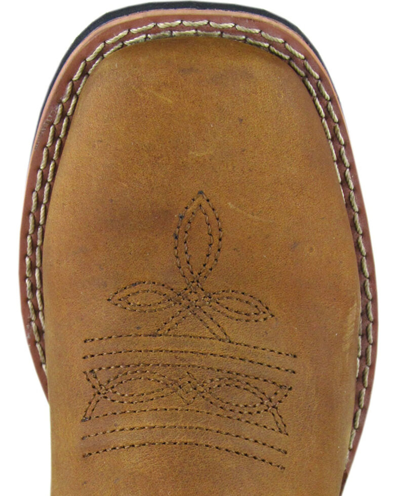 Smoky Mountain Kid's Square Toe Western Boots, Brown, hi-res