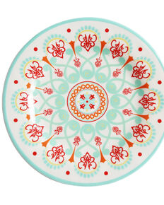 HiEnd Accent Multi Western Four-Piece Melamine Dinner Plate, Multi, hi-res