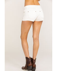 Shyanne Women's White Basic Low Rise Shorts , White, hi-res