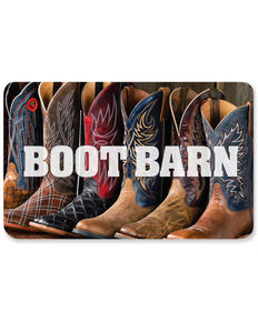 Boot Barn® Row of Boots Gift Card, No Color, hi-res