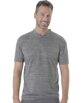 Wrangler Men's Riggs Workwear Short Sleeve Henley Shirt , Charcoal, hi-res