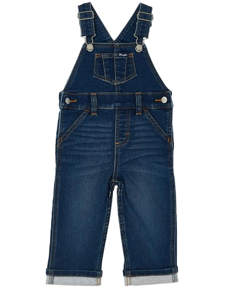 Wrangler Toddler Boys' Dark Overall Jeans , Blue, hi-res