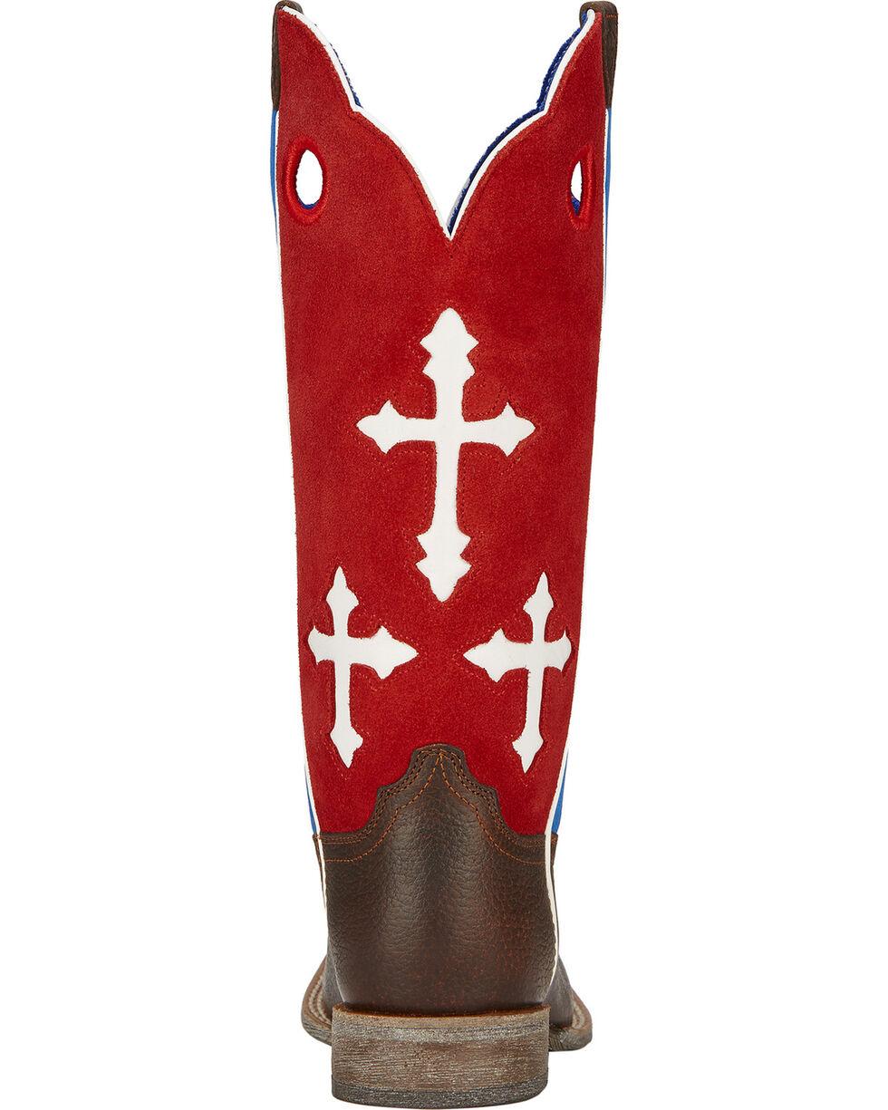Ariat Boys' Ranchero Patriotic Cowboy Boots - Square Toe, Brown, hi-res