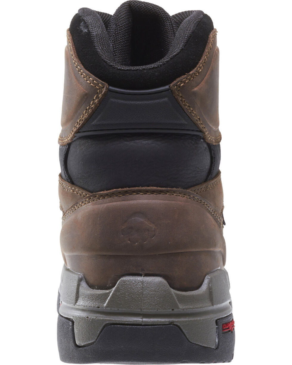 "Wolverine Men's Legend Durashocks 6"" Work Boots - Composite Toe, Dark Brown, hi-res"