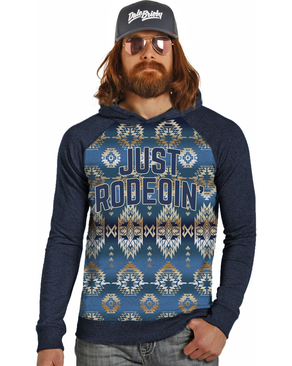Dale Brisby Men's Just Rodeoin' Hoodie , Navy, hi-res