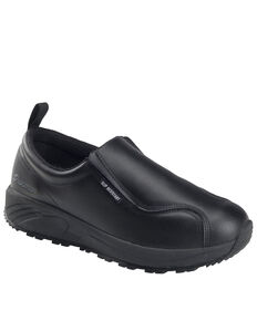 Nautilus Men's Black Skidbuster Pull-On Work Shoes - Soft Toe, Black, hi-res